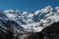 Morteratschgletscher und und die Berninagruppe