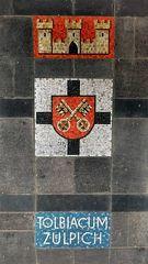 Mosaik am Bahnhof Zülpich
