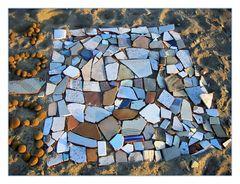 Mosaik am Strand