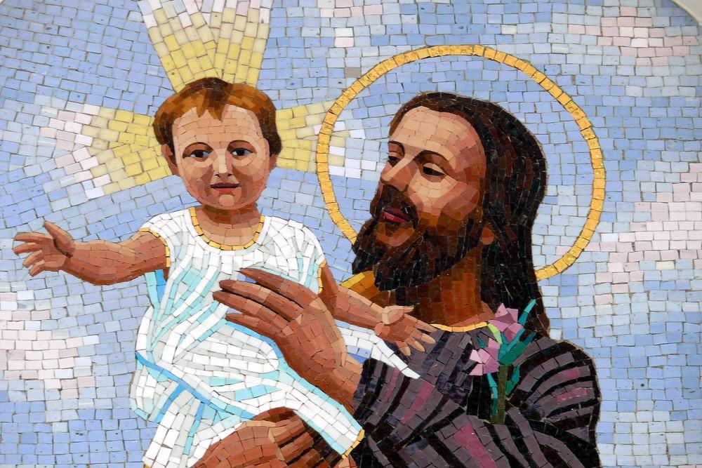 Mosaik an der Kirche Santa Maria delle Grazie (Detail)