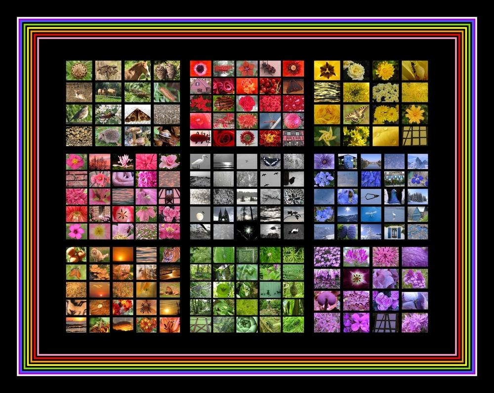 mosaïque de couleurs