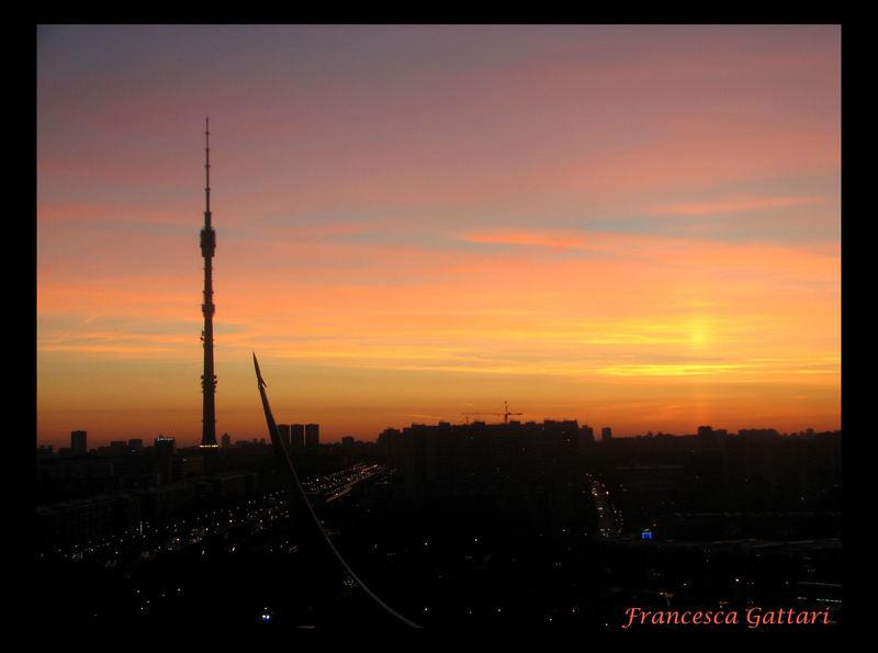 Mosca al tramonto