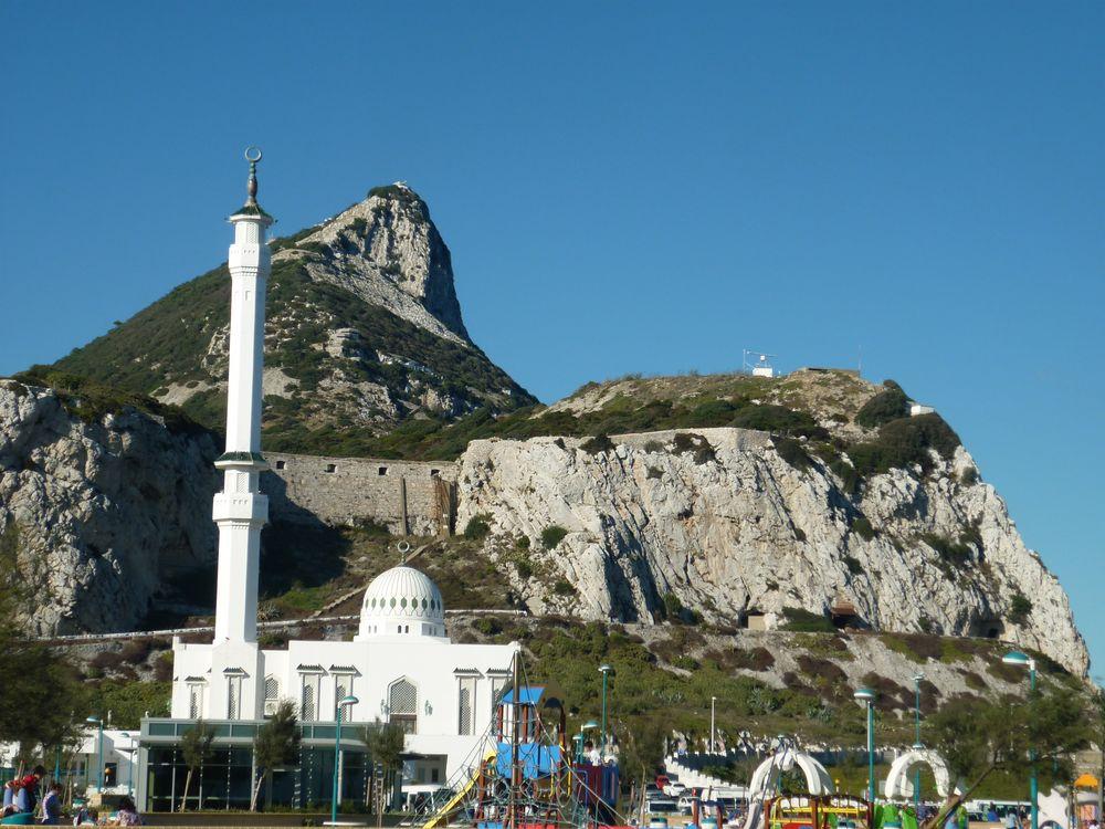 Moschee und Affenfelsen Gibraltar