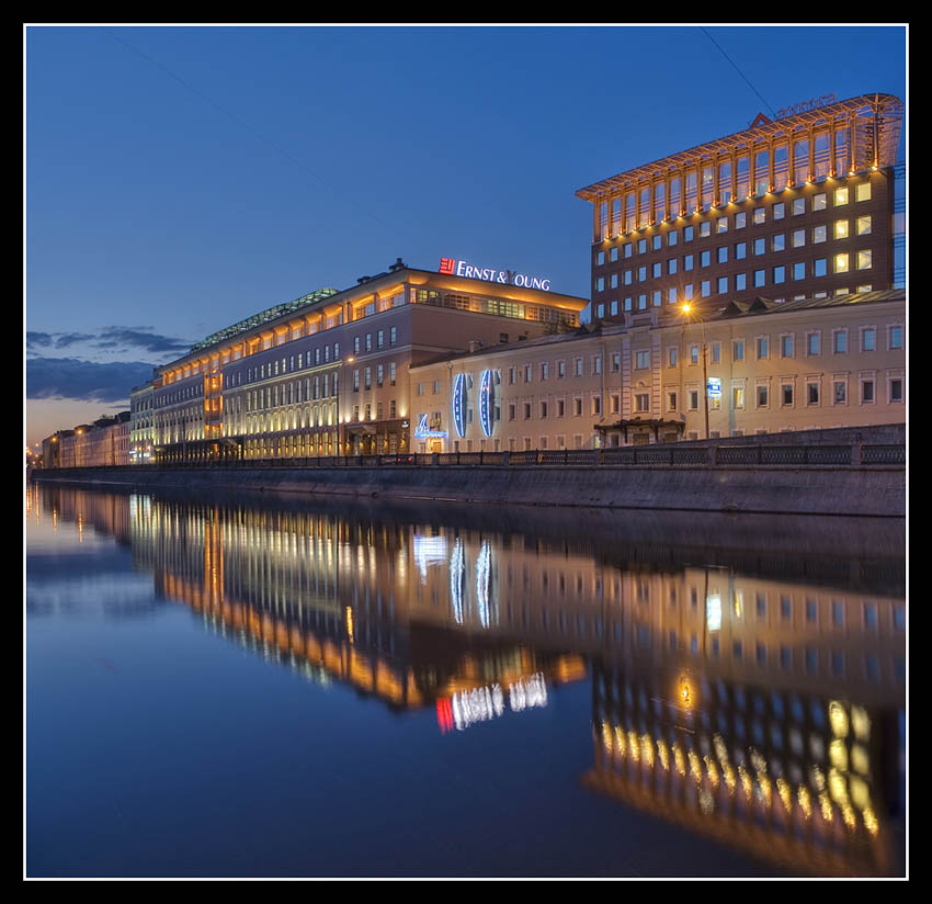 Moscow at night series. Reflections