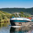 "Mosel - Begegnung mit dem Frachtschiff ""Icaria"""