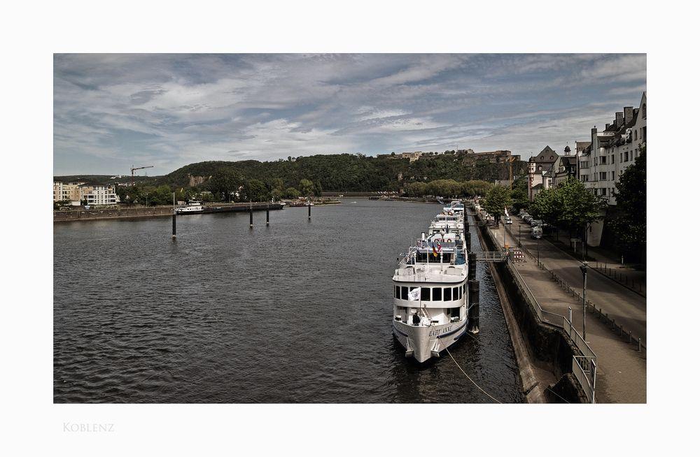 """Mosel - Impressionen """" Koblenz, der Blick von der Balduinbrücke """""""