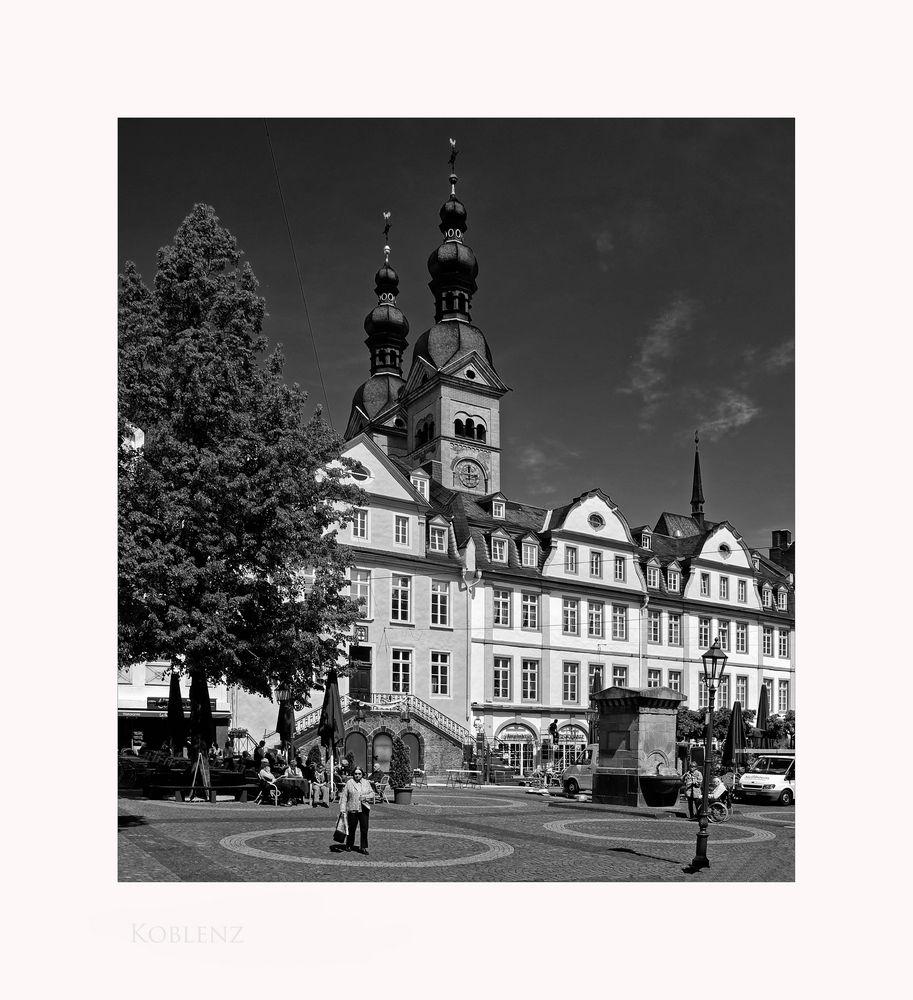 """Mosel - Impressionen """" Koblenz -der Blick zur Liebfrauenkirche """""""