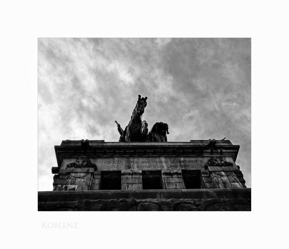 """Mosel - Impressionen """" Koblenz - Kaiser-Wilhelm I. - Denkmal, aus einer anderen Sicht """""""