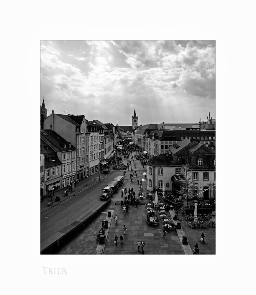 """Mosel - Impressionen """" Trier - der Blick, von der Porta Nigra """""""