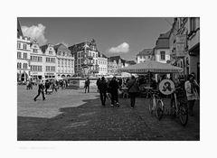 """Mosel - Impressionen """" Trier, der Markplatz und der Blick zum Petrusbrunnen """""""