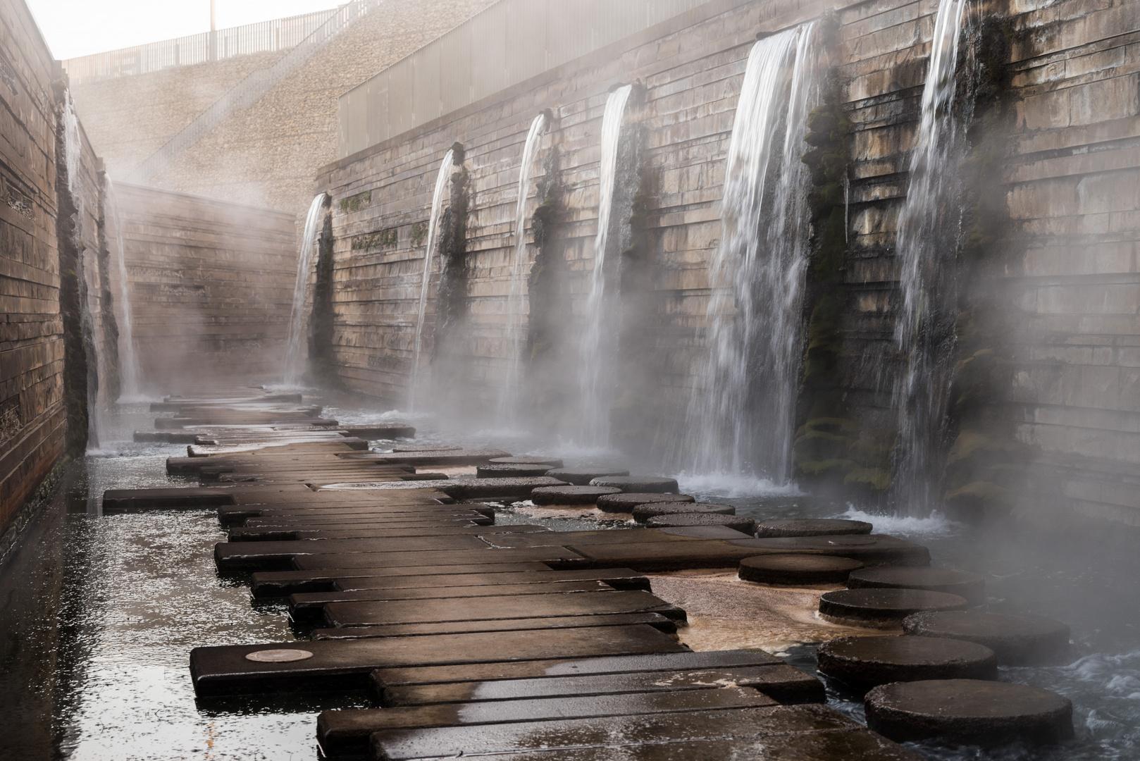Mosesgang in den Wassergärten Landsweiler-Reden