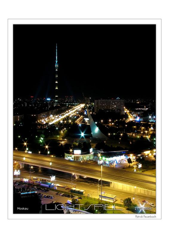 Moskau bei Nacht