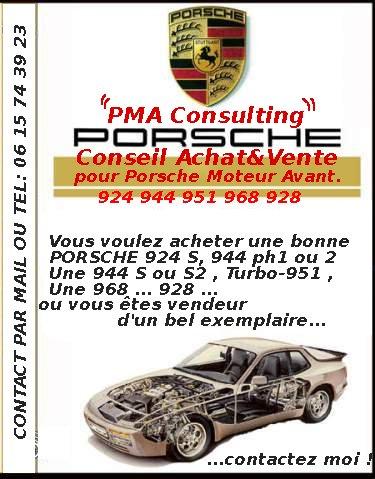 Moteur avant Porsche 944 968 951