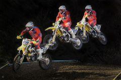Moto Cross Flugphase