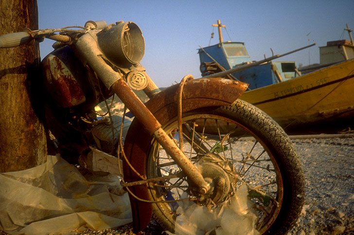 Motorrad auf Samos