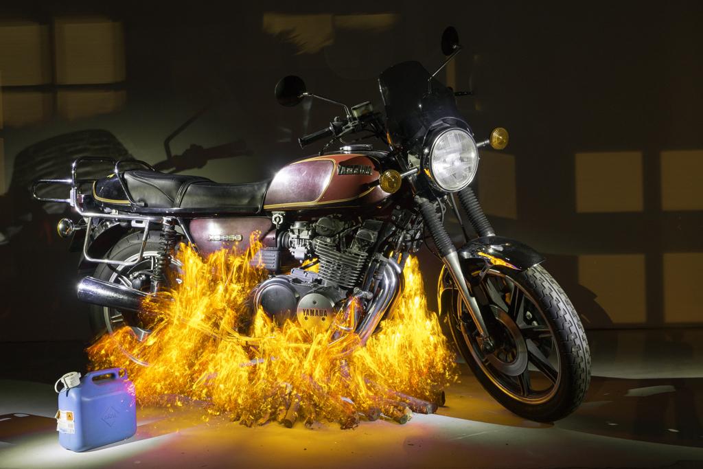 Motorrad Halloween