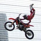 Motorrad-Jumping