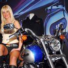 Motorrad mit Zubehör