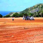Motorrad Treff auf den Azoren (Rote Wüste)