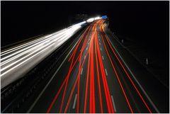 motorway by night (Bern, Switzerland)