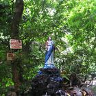 Mount Banahaw, Santa Lucia, holy Maria in the jungle. Philippines