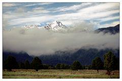 Mount Cook im Nebel