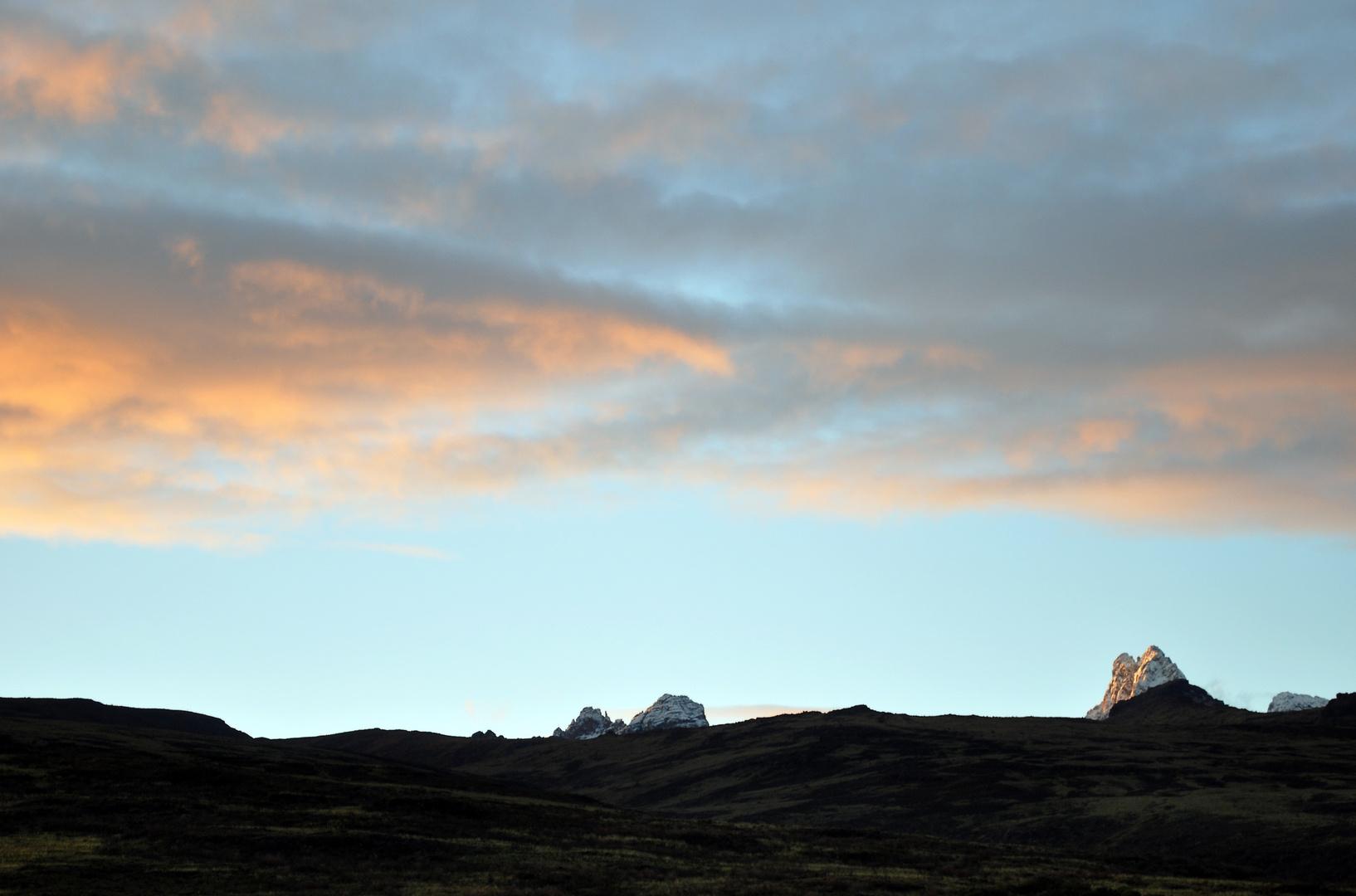 Mount Kenia im Morgenlicht