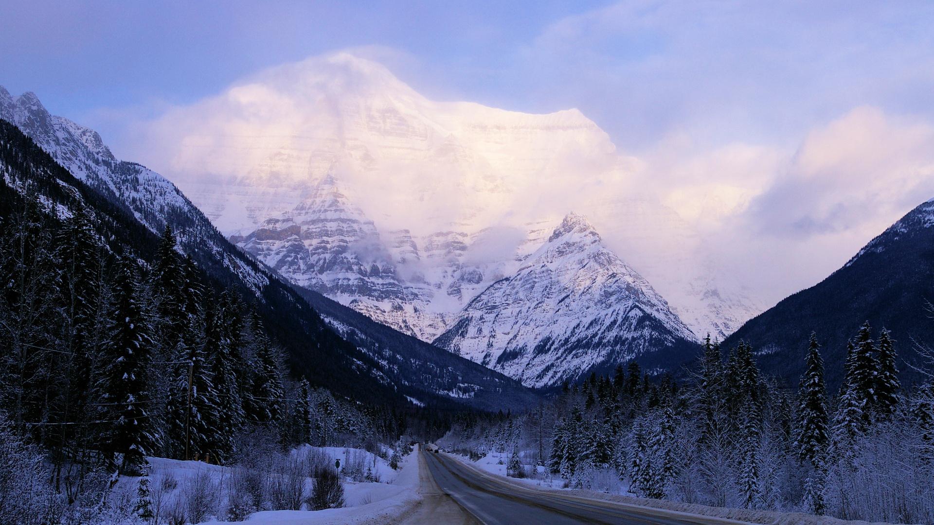 Mount Robson BC Canada December
