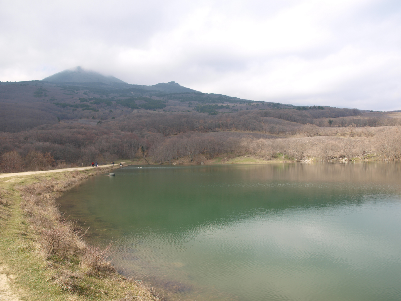 Mountain lake in Crimea