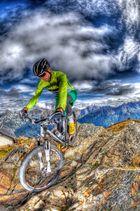 Mountainbiken Stubaital, Starkenburgerhütte, HDR, Fischeye,