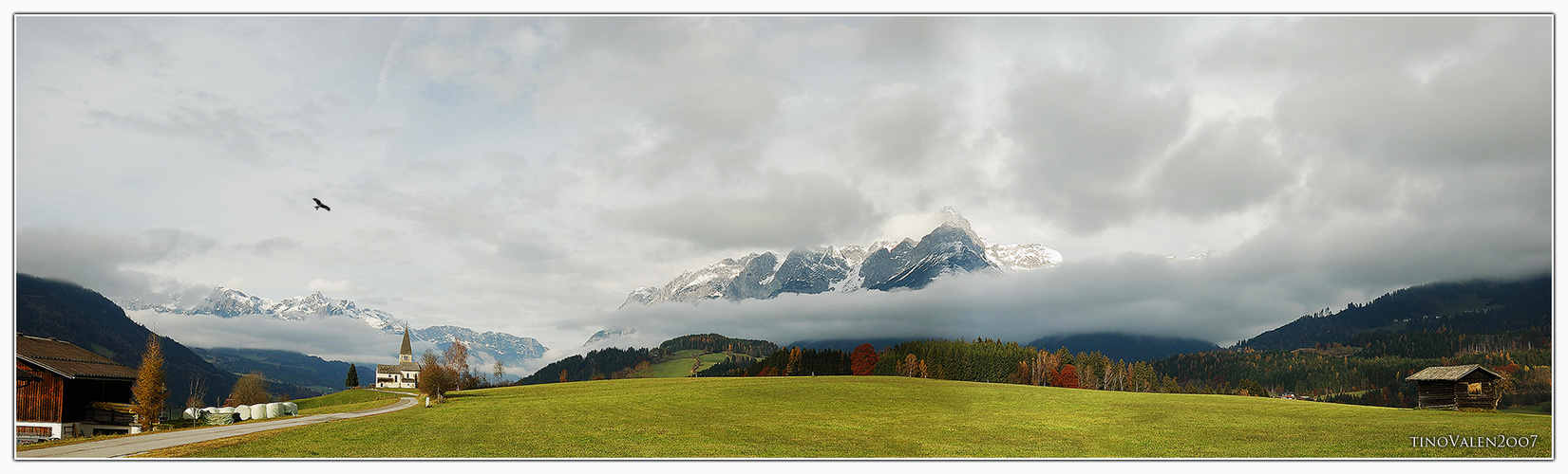 mountains panorama in austria,