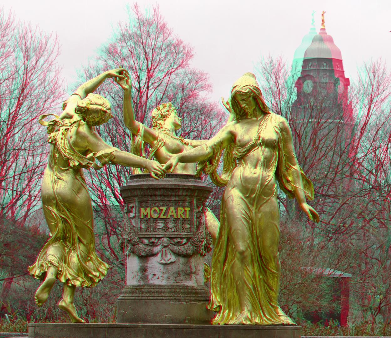 Mozartbrunnen auf der Bürgerwiese in Dresden
