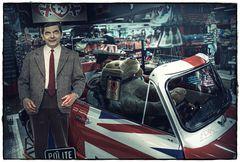 Mr. Bean goes on a trip.