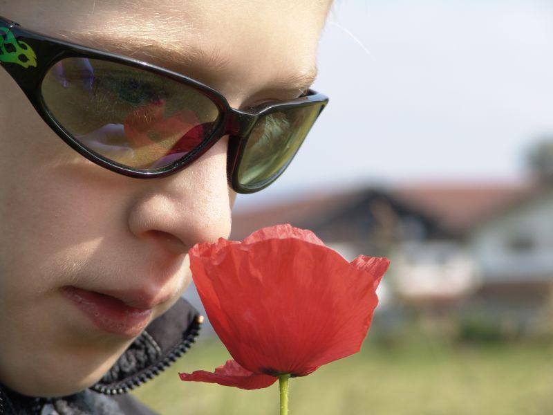Mr. Cool trifft zarte Blüte