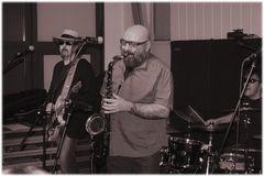 Mr. SUPERCHARGE - auf der Bühne mit Don P. & the blue Jags