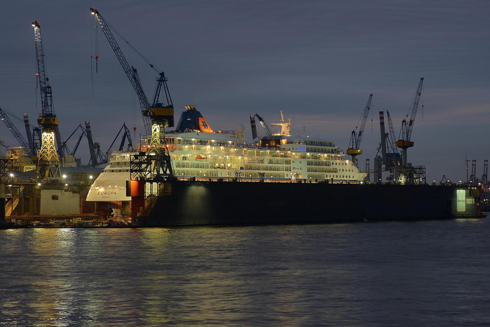 MS Europa at Blohm+Voss in Hamburg