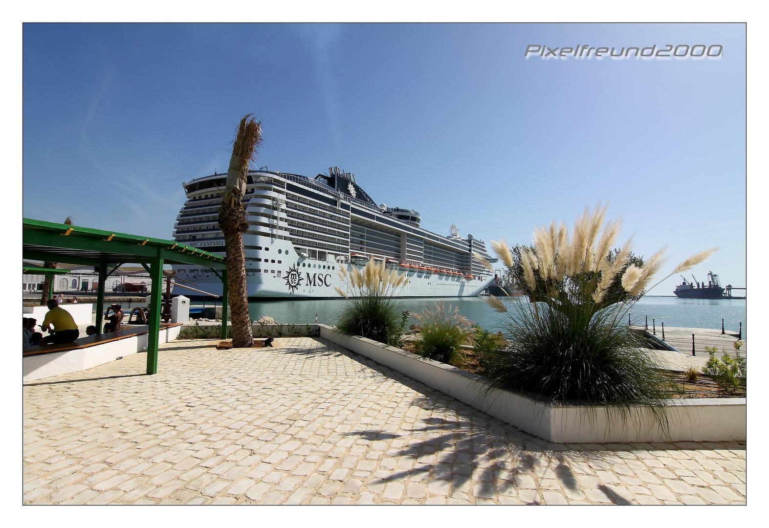 MSC Fantasia - im Hafen von Tunis