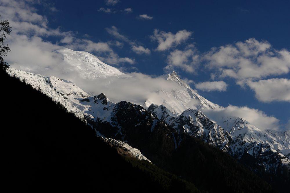 Mt. Blanc, von Chamonix aus