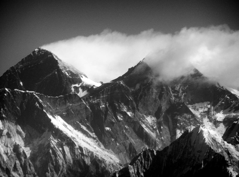 Mt. Everest und Lothse im Himalaya