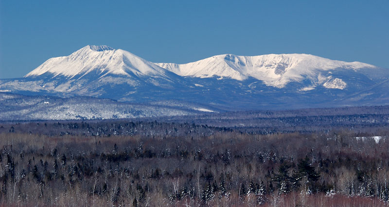 Mt. Katahdin In Winter