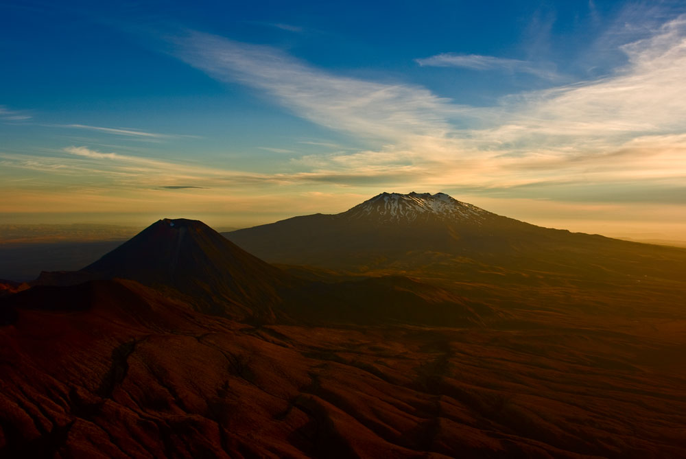 Mt-Ngauruhoe II Sunset