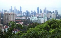 Mt.Faber-Singapur skyline
