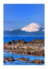 MT.Fuji seen in the sea over