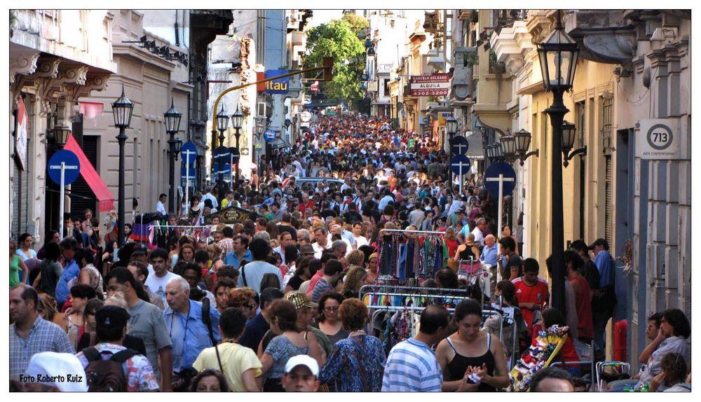Muchedumbre en San Telmo
