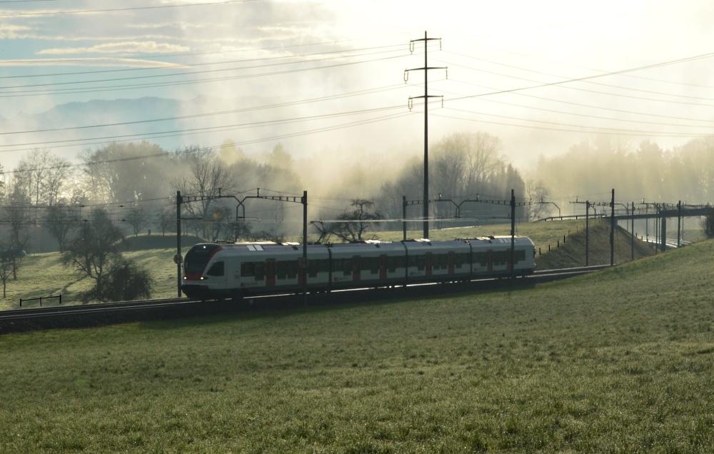 Mühlau mit Nebel