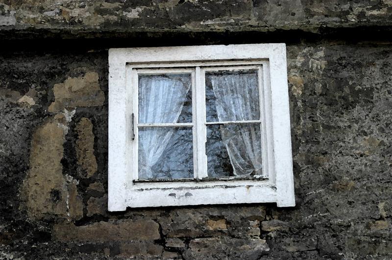 Mühle, altes Fenster