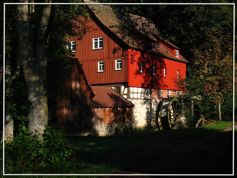 Mühle im Morgenlicht