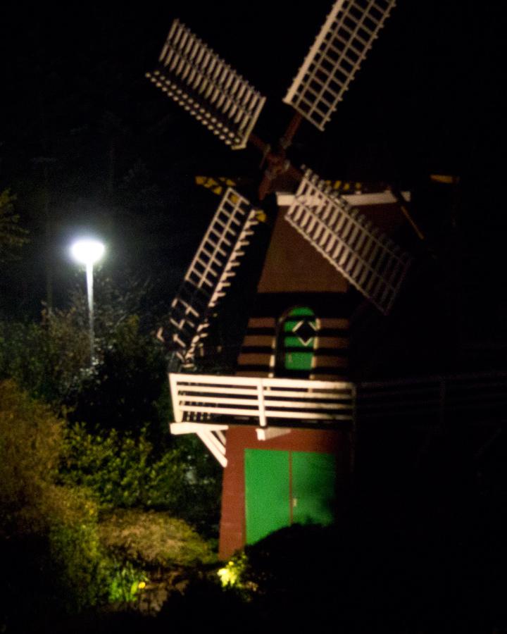 ... Mühle im Spotlicht.