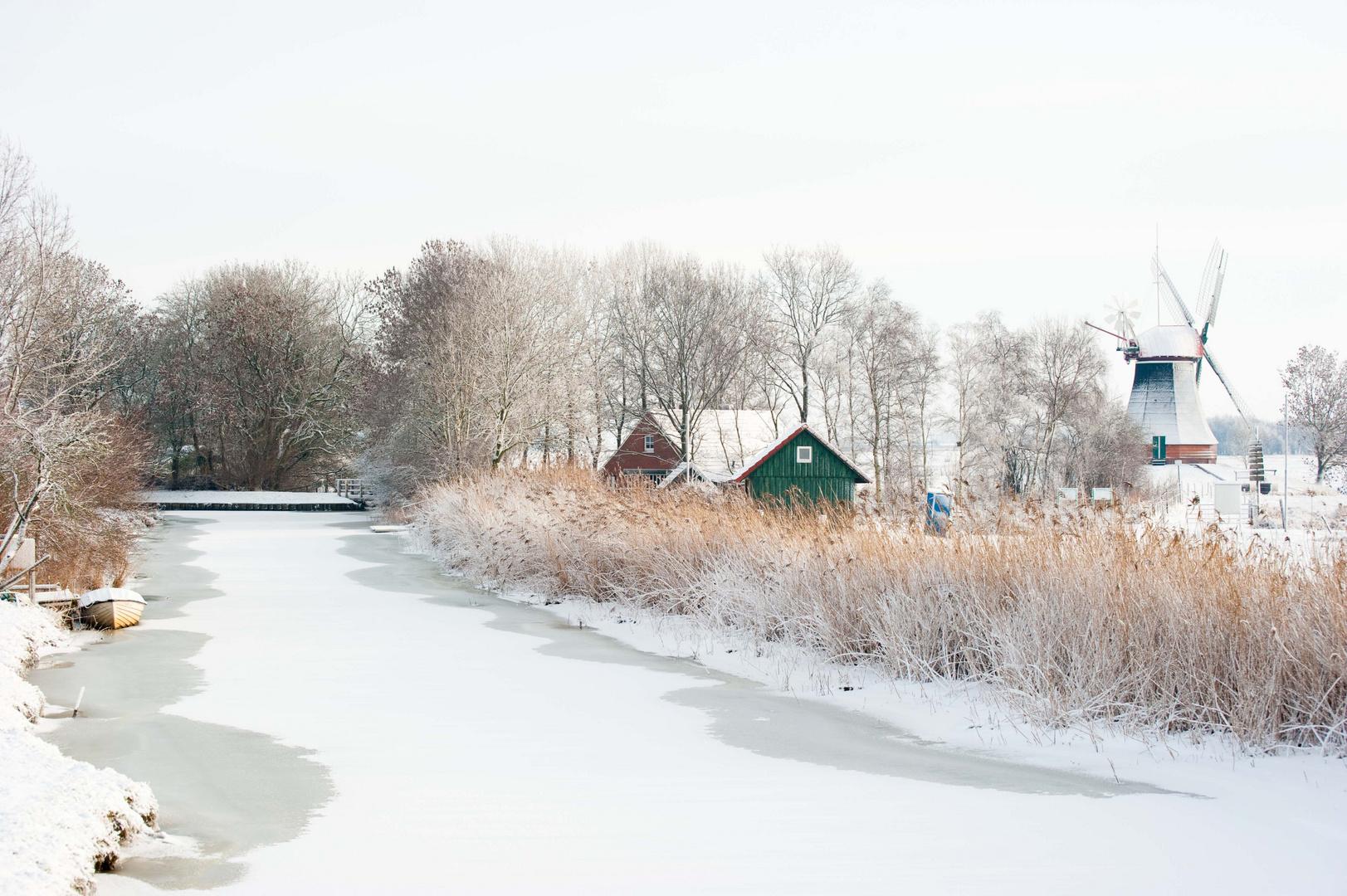 Mühle Wynham 1 im Winter
