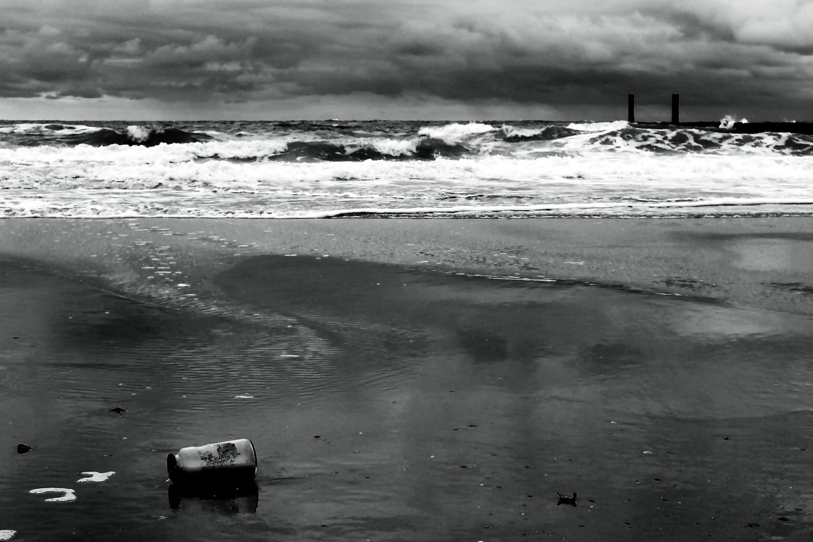Müll am Strand , das hat was !